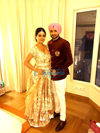 Geeta Basra and Harbajan Singh attends Yuvraj Singh and Hazel Keech's reception in Delhi