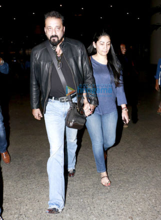 Sanjay Dutt and Manyata Dutt snapped at the airport returning from Dubai