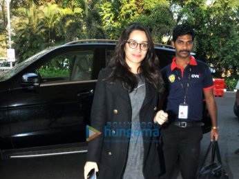 Aditya Roy Kapur and Shraddha Kapoor depart to promote Ok Jaanu in Chandigarh