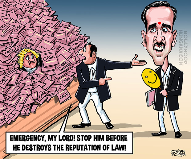 Bollywood Toons: Jolly LLB 2 in Supreme Court!
