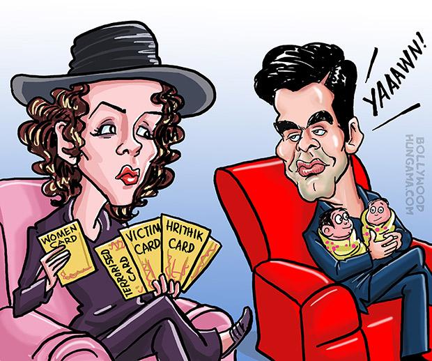 Bollywood Toons Karan Johar vs Kangna Ranaut!