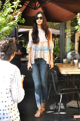 Diana Penty snapped post lunch at Suzette, Bandra
