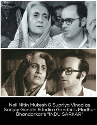 Neil Nitin Mukesh's look as Sanjay Gandhi in Indu Sarkar