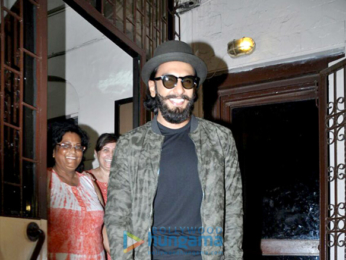 Ranveer Singh snapped post dubbing at Bandra Studio