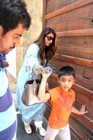 Tanishaa Mukerji and Ajay Devgn son snapped in Juhu