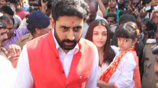 Abhishek Bachchan, Aishwarya Rai Bachchan visit Siddhivinayak temple on their wedding anniversary video