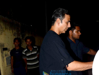 Akshay Kumar snapped post his shoot for 'Padman' in Bandra