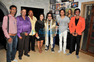 Bappi Lahiri, Shaan and others at the song recording session of the film 'Do Pal Pyar Ke'