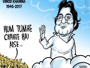 Bollywood Toons Shradhanjali Vinod Khanna!