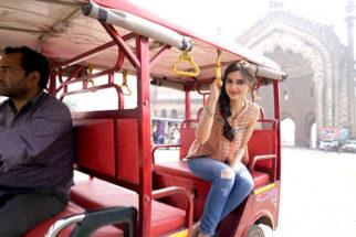 Diana Penty explores Lucknow in a rickshaw