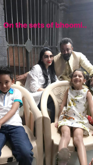 It's family time for Sanjay Dutt on the sets of Bhoomi-1