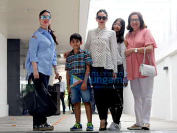 Kareena Kapoor Khan & Karisma Kapoor snapped post birthday lunch with mom Babita Kapoor at Hakkasan