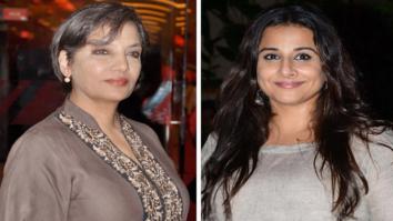 Shabana Azmi –Vidya Balan's mutual admiration society