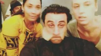 This goofy video of Ranbir Kapoor taking off his makeup at Sanjay Dutt biopic shoot is hilarious
