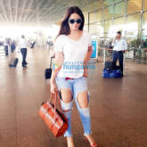 Neetu Chandra spotted at the Mumbai International airport