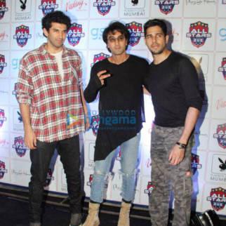 Ranbir Kapoor, Sidharth Malhotra and Aditya Roy Kapur snapped at all stars football team bash in Mumbai