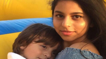 Aww! Shah Rukh Khan's daughter Suhana Khan hugs little brother Abram Khan on his fourth birthday