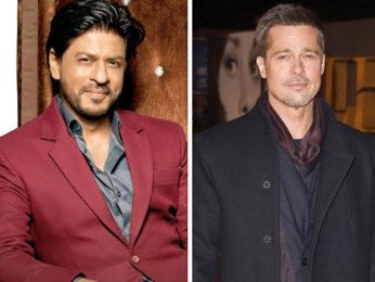 Shah Rukh Khan hosting Brad Pitt in Mumbai