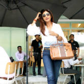 Shilpa Shetty snapped at The Kitchen Garden