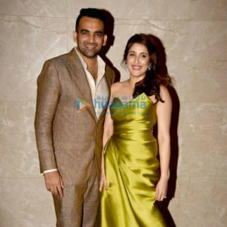 Zaheer Khan and Sagarika Ghatge's engagement bash in Mumbai