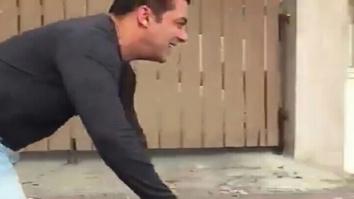Watch: Salman Khan surprises Shah Rukh Khan's fans on his e-cycle outside Mannat