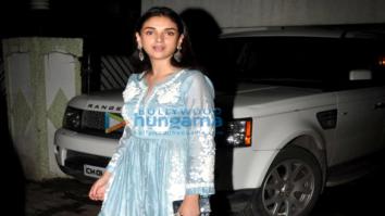 Aditi Rao Hydari snapped post Eid celebrations at Shabana Azmi's house