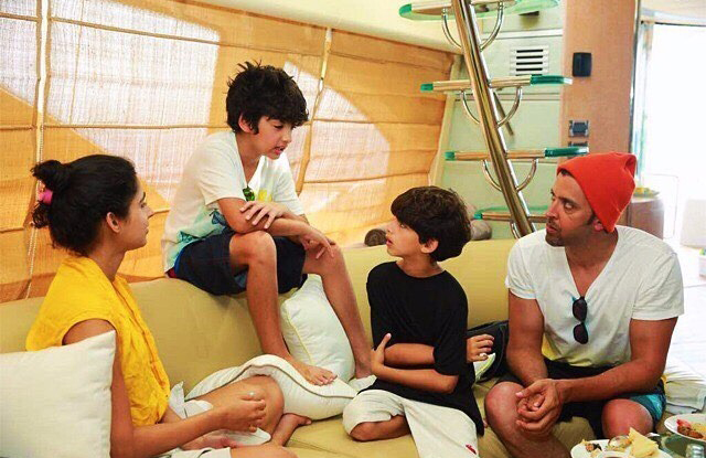 Hrithik Roshan on a vacation with his sons Hrehaan and Hridhaan-2