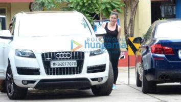 Kareena Kapoor Khan, Amrita Arora, Shahid Kapoor, Bipasha Basu, and Karan Singh Grover snapped outside the gym