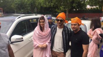 Raabta stars Sushant Singh Rajput and Kriti Sanon visited to seek blessings for their film