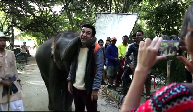 Ranbir Kapoor Plays With A CUTE Elephant In This Jagga Jasoos Video