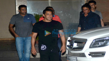 Salman Khan and family celebrate the Being Human cycle launch at Arpita's house