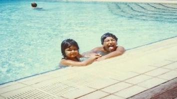 Throwback Toddlers Arjun Kapoor and sister Anshula Kapoor get goofy while swimming