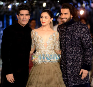 Alia Bhatt and Ranveer Singh walk for Manish Malhotra's show at India Couture Week in Delhi