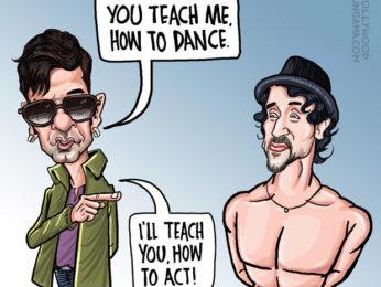 BT Nawazuddin learns to dance from Munna Michael!