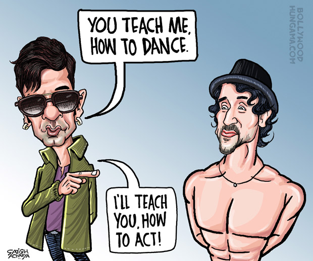 BT Nawazuddin learns to dance from Munna Michael!