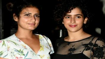 Dangal girls Fatima Sana Shaikh and Sanya Malhotra snapped post dinner in Bandra