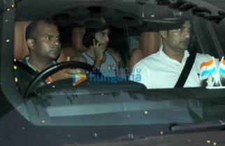 Ranbir Kapoor & Alia Bhatt snapped post their visit at Karan Johar's house