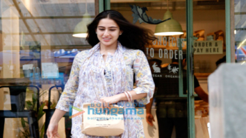 Sara Ali Khan snapped at The Kitchen Garden restaurant in Mumbai