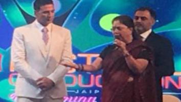 Akshay Kumar meets Chief Minister of Rajasthan Vasundra Raje1
