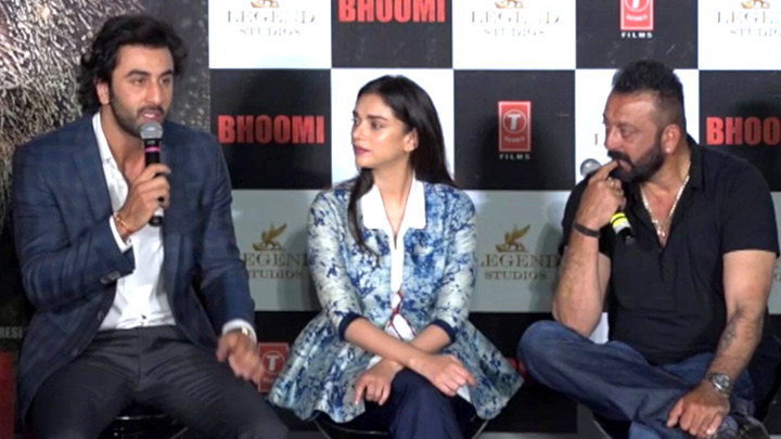 Anything For You Ranbir Kapoor Sanjay Dutt  Jagga Jasoos  Bhoomi Trailer Launch