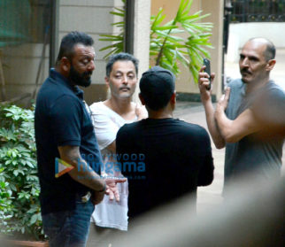 Sanjay Dutt snapped at his house in bandra with Sujoy Ghosh