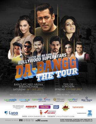 WOW! Salman Khan reveals the promotional poster of UK leg of Da-Bangg The Tour