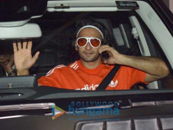 Ranveer Singh snapped after dubbing for 'Padmavati'