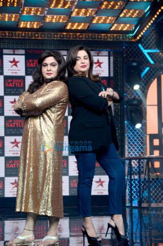 Farah Khan snapped on the sets of Lip Sync Battle