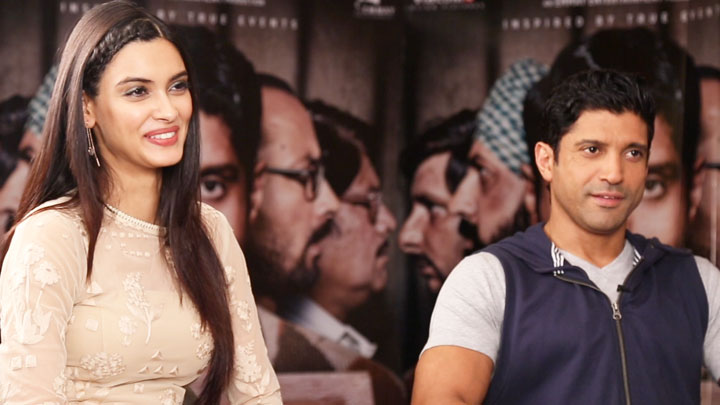 Farhan Akhtar & Diana Penty REVEAL What ATTRACTS Them To Do A Film Lucknow Central video