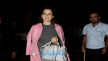 Kangna Ranaut, Kalki Koechlin and Jim Sarbh snapped at the airport