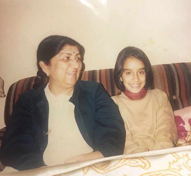 Shraddha Kapoor shares an old photograph on grandmother Lata Mangeshkar's 88th birthday