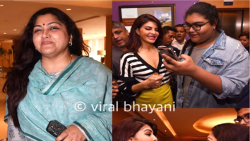WOW! Jacqueline Fernandez meets South superstar Kushboo