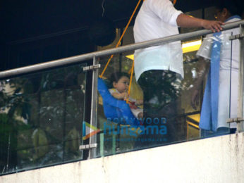 Taimur Ali Khan Pataudi spotted sitting in his residence gallery