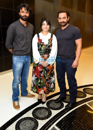 Aamir Khan, Zaira Wasim, Advait Chandan promote 'Secret Superstar' in New Delhi